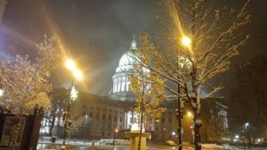 Winter storm at the capitol