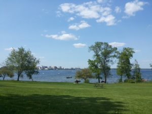 Sunny day picture of lake Mendota